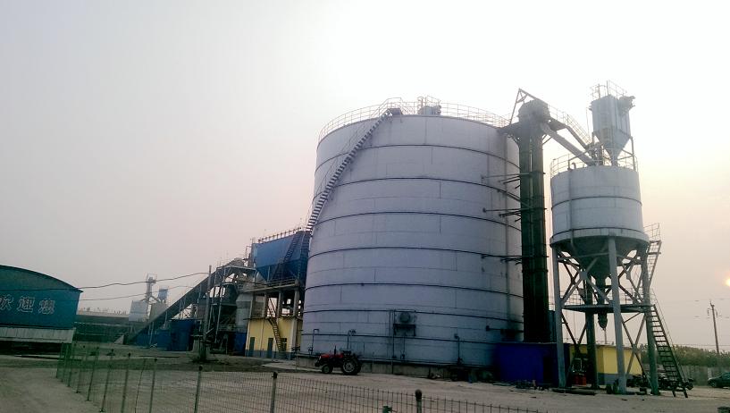 鄢陵锦瑞nian产30万吨矿zha微粉生产线ji钢板库工程